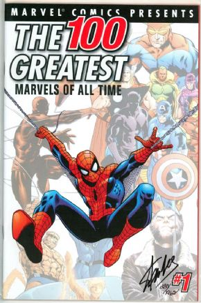100 Greatest Marvels Of All Time #1 Dynamic Forces Signed Stan Lee DF COA Amazing Fantasy #15 Marvel comic book